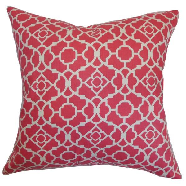 Kalmara Geometric Euro Sham Pink
