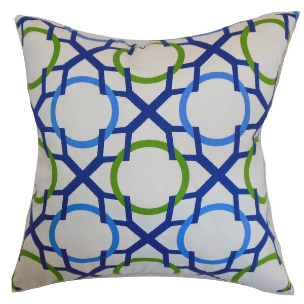 Lacbiche Geometric Euro Sham Blue Green