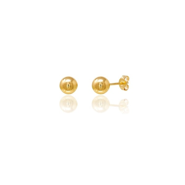 14Kt 14K White Gold Ball Stud Earring w// ring with Earring Back 3mm-7mm