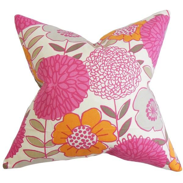 Veruca Floral Euro Sham Pink