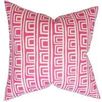 Xabrine Geometric Euro Sham Pink