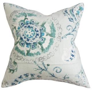 Riah Floral Euro Sham Blue