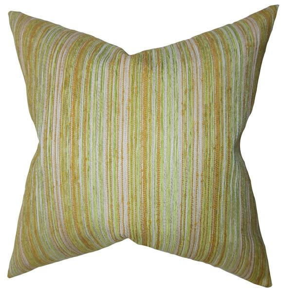 Bartram Stripes Euro Sham Gold Green