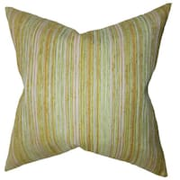 Bartram Stripes Euro Sham Gold Green