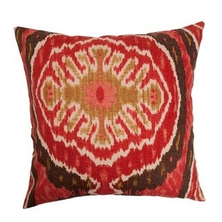 Iovenali Ikat Euro Sham Red