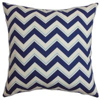 Deion Zigzag Euro Sham Navy Blue