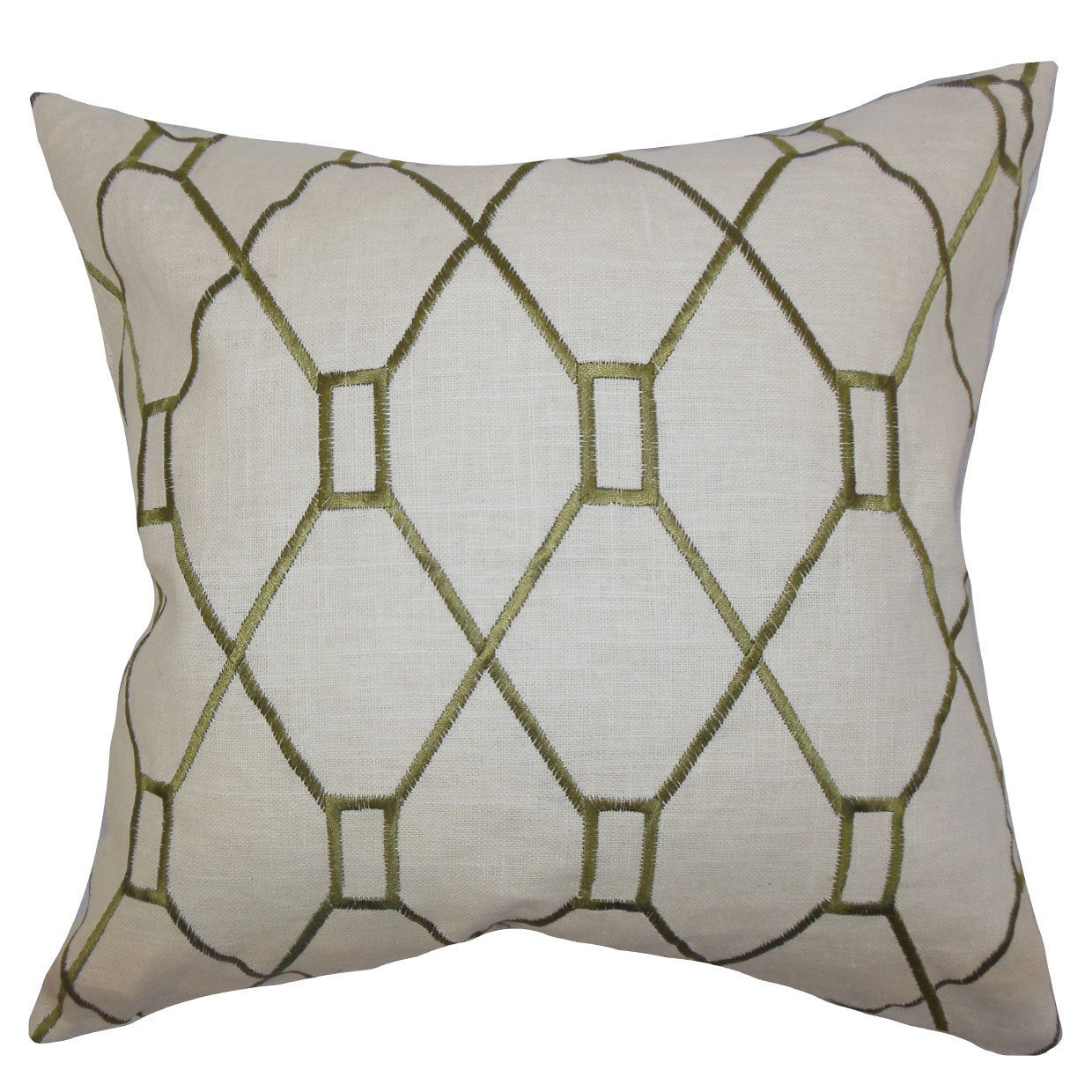 Home Kitchen The Pillow Collection Nevaeh Geometric Bedding Sham Green King 20 X 36 Bedding