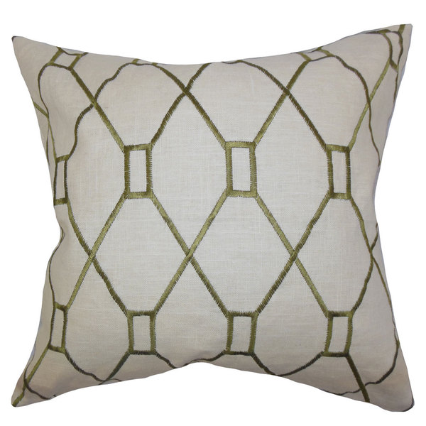 Nevaeh Geometric Euro Sham Green