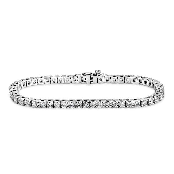 Suzy Levian 4.51 ct TDW 14K White Gold Diamond Tennis Bracelet (J-K, SI1-SI2)