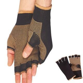 BeautyKo Unisex Multicolor Copper/Nylon Compression Therapeutic Gloves