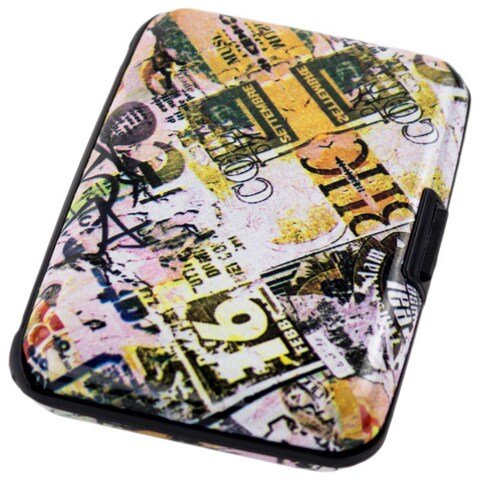 Aluma Wallet Collage Aluminum RFID-blocking Hard-case Credit Card Wallet