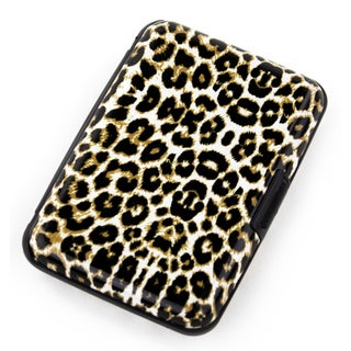 Aluma Wallet Leopard Aluminum RFID Blocking Hard Case Credit Card Wallet
