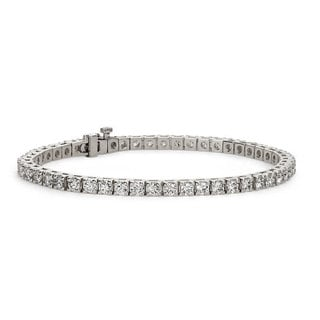 Suzy Levian 5.00 ct TDW 14K White Gold Diamond Tennis Bracelet (G-H, I1-I2)
