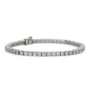 Suzy Levian 5.00 ct TDW 14K White Gold Diamond Tennis Bracelet