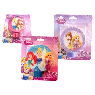 Disney Princess Plastic Wall Night Lights (Pack of 3)