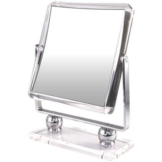 Rucci Square Metal Stand with Glass Base Mirror