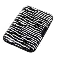Imperial Home Aluma Zebra Aluminum RFID Blocking Hard Case Credit Card Wallet