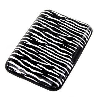 Imperial Home Aluma Zebra Aluminum RFID Blocking Hard Case Credit Card Wallet