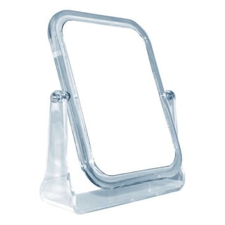 Acrylic Vanity Mirror with 3x Magnification Plus Kabuki Brush and Pouch