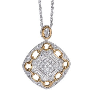 10k Gold over Silver Diamond Accent Necklace (H-I, I2-I3) by Ever One