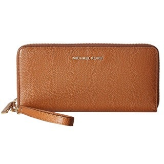 Michael Kors Mercer Travel Continental Luggage Brown Travel Pouch