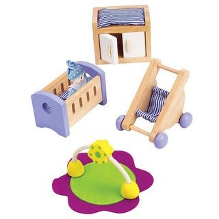 Hape Baby's Room Dollhouse Furniture Set