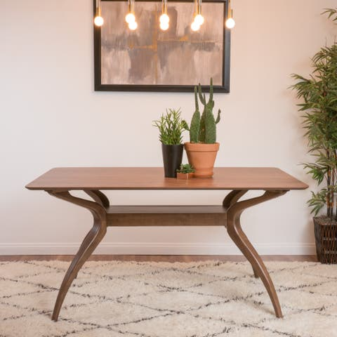 Salli Natural Finish Wood Dining Table by Christopher Knight Home