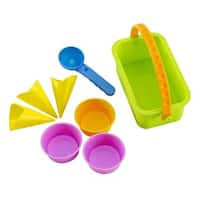Hape Kids' Ice Cream Shop Multicolored Plastic Sand Castle Molds Playset