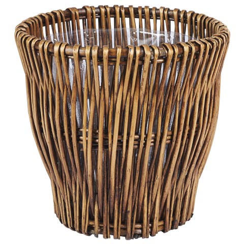 Small Reed Willow Waste Basket - N/A