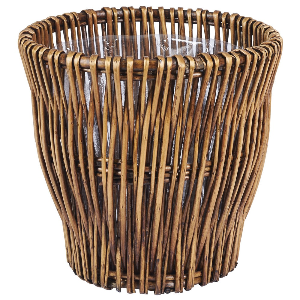 Small Reed Willow Waste Basket N A