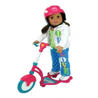 Sophia's Toy Scooter with Doll Helmet