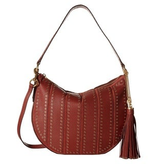 Michael Kors Suede Medium Convertible Brick Hobo Handbag