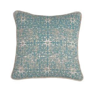 Kosas Home Laurent Pacific Blue/Tan Cotton 18 x 18 Throw Pillow|https://ak1.ostkcdn.com/images/products/12876228/P19636510.jpg?impolicy=medium