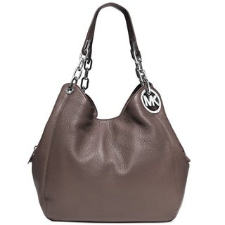 Michael Kors Fulton Large Cinder Leather Shoulder Handbag