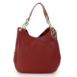 Michael Kors Fulton Large Brick Leather Shoulder Handbag