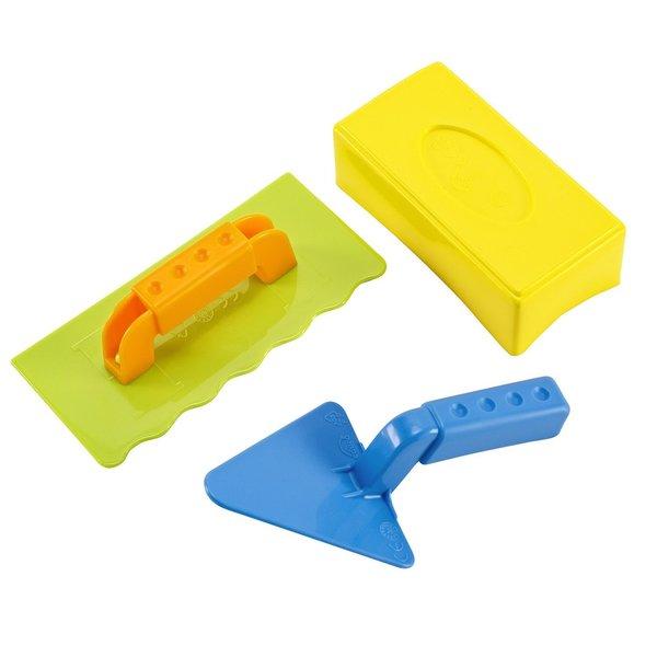 Hape Master Multicolored 3-piece Bricklayer Set