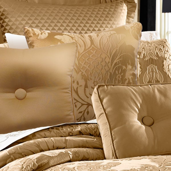 Five Queens Court Colonial Gold Damask 40inch Decorative Pillow Fascinating Gold Decorative Bed Pillows