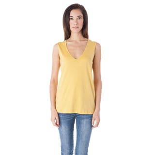 AtoZ Wide Strap Cotton V-neck Tank