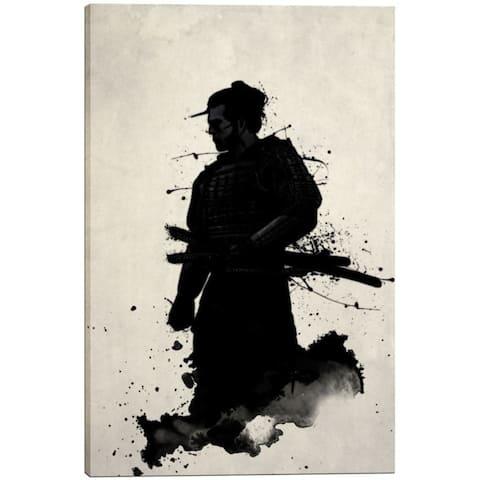 Nicklas Gustafsson 'Samurai' Cortesi Home Giclee Canvas Wall Art - Black