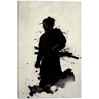 Nicklas Gustafsson 'Samurai' Cortesi Home Giclee Canvas Wall Art - Black