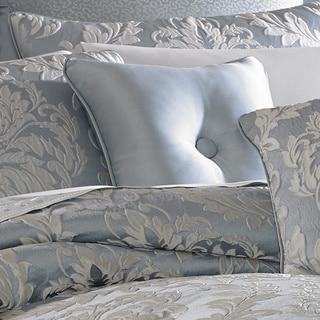 Five Queens Court Faith Blue 16-inch Square Button Tufted Decorative Pillow