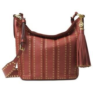Michael Kors Brooklyn Grommet Brick Medium Feed Handbag