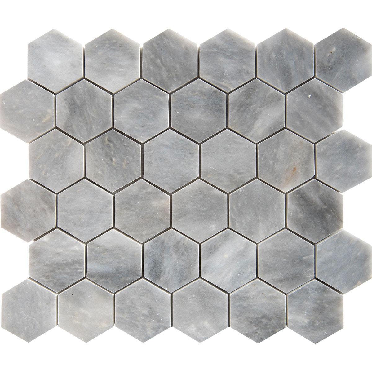 Afyon Grey Marble 2 Inch Hexagon Polished Tile Overstock 12876277
