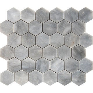 Afyon Grey Marble 2-inch Hexagon Polished Tile