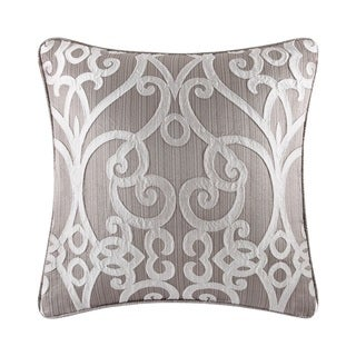 Five Queens Court Ivy Silver 20-inch Square Decorative Pillow