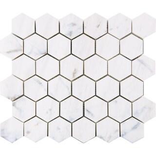 Bianco Dolomiti Classic 2-inch Hexagon Polished Mosaic Tile