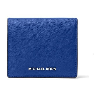 Michael Kors Jet Set Travel Electric Blue Carryall Card Case Wallet
