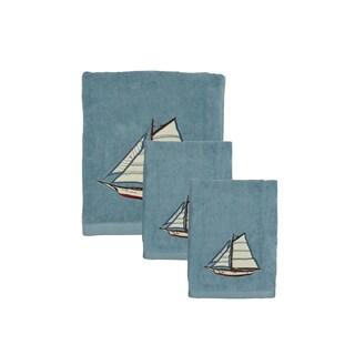 Sherry Kline Fair Harbor 3-piece Embroidered Decorative Towel Set