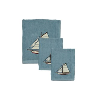 Sherry Kline Fair Harbor 3-piece Embroidered Decorative Towel Set