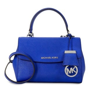 Michael Kors Ava Extra-Small Electric Blue Saffiano Leather Crossbody Handbag